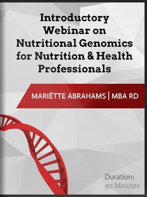 Nutrigenomics webinar recording