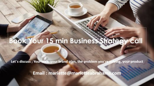 Business strategy call Mariette Abrahams