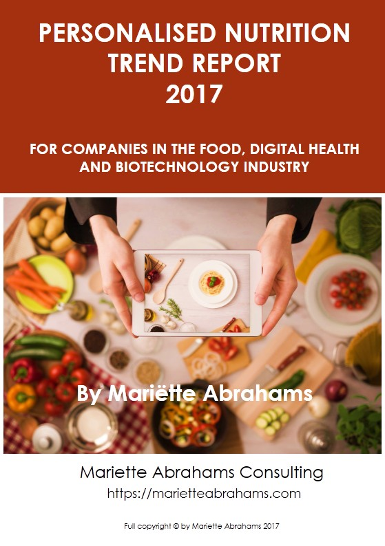 Personalized Nutrition trend report 2017